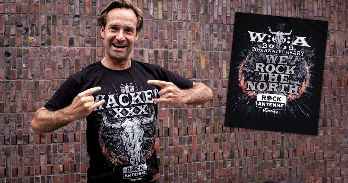 Best dressed at W:O:A 2019: Holt euch das offizielle ROCK ANTENNE Hamburg Wacken-Shirt!