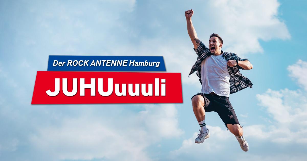 Der ROCK ANTENNE Hamburg Juhuli: Täglich mitspielen, rocken und jubeln!