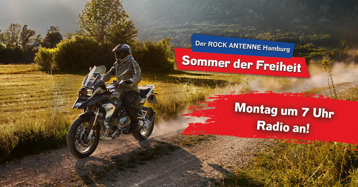 Der ROCK ANTENNE Hamburg - Sommer der Freiheit: Wer bekommt die BMW R 1250 GS?