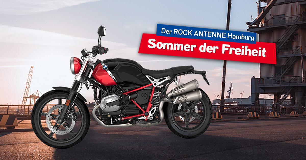 Der ROCK ANTENNE Hamburg - Sommer der Freiheit: Holt euch die BMW R nineT Scrambler!