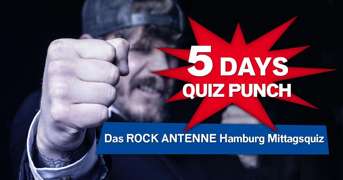 Mitquizzen & Abrocken: Jetzt anmelden für das ROCK ANTENNE Hamburg Mittagsquiz!