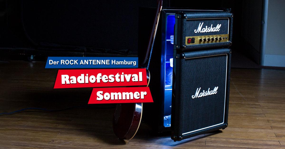 ROCK ANTENNE Hamburg Radiofestival Sommer: Mitmachen & Marshall Kühlschrank schnappen!
