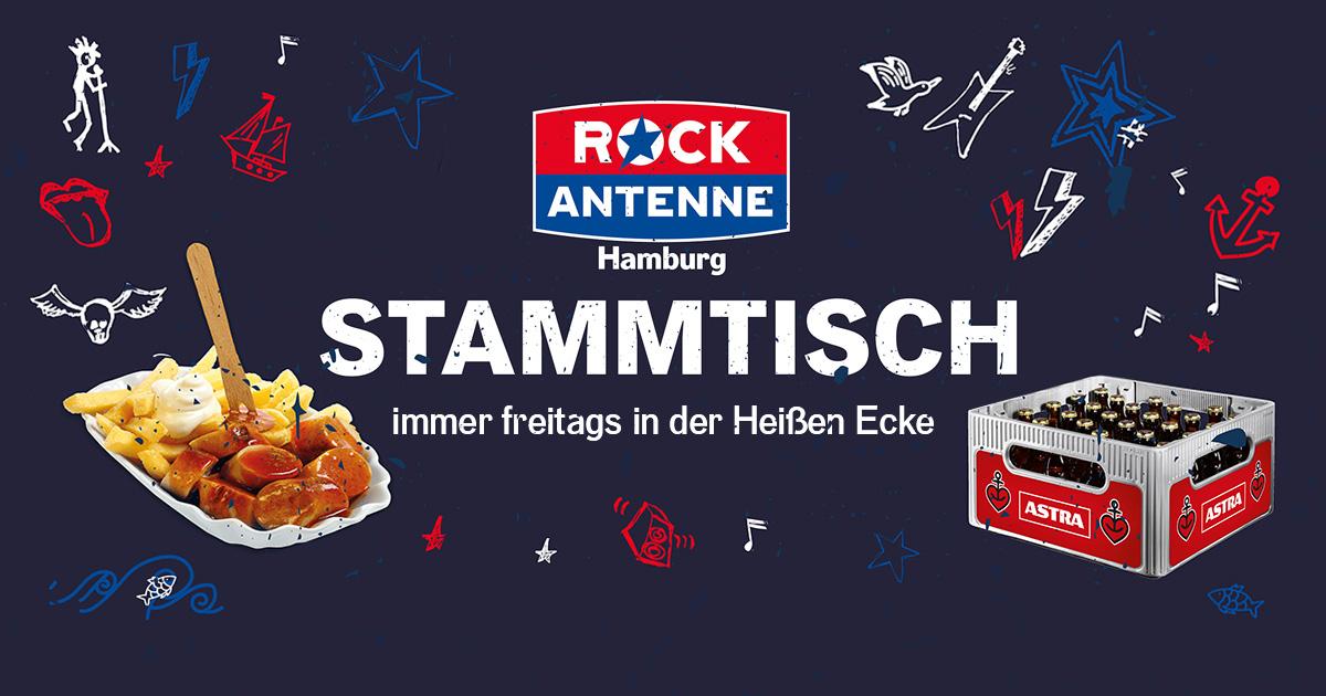 Currywurst & Astra für lau: Macht mit und kommt zum ROCK ANTENNE Hamburg Stammtisch!