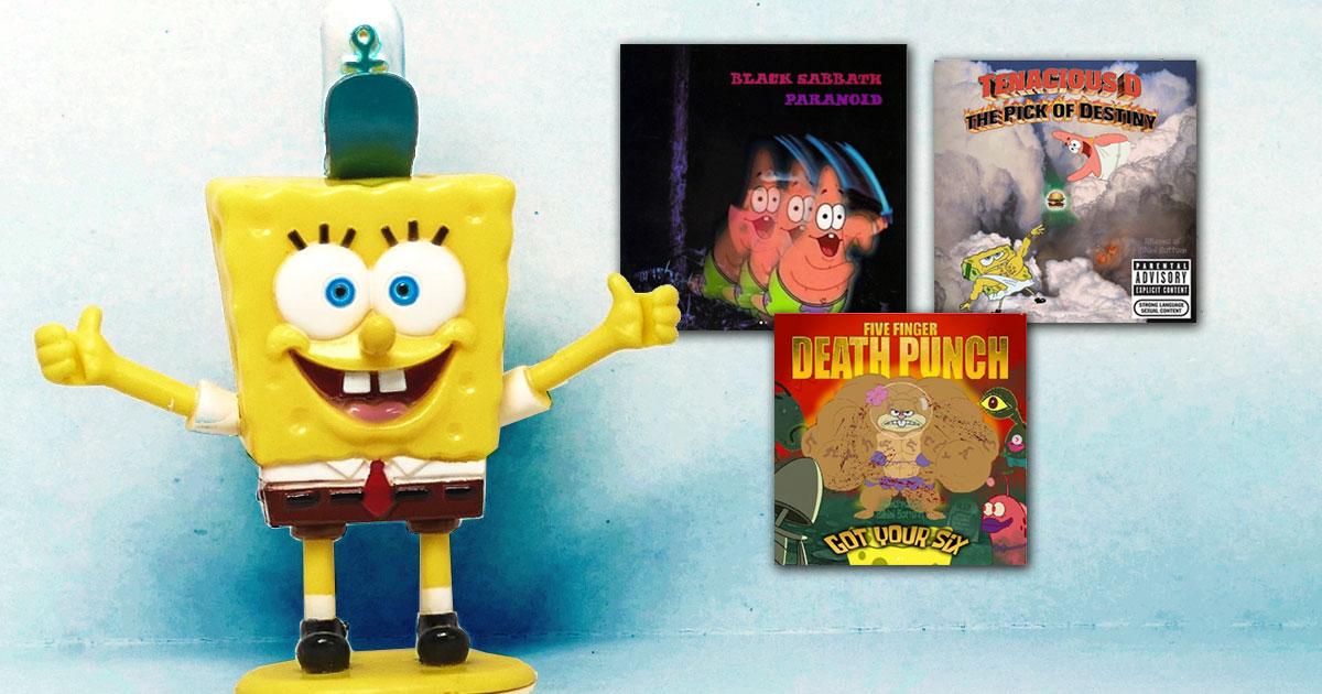 SpongeBob Metalhead: Die 50 besten Album-Cover im Spongebob-Design