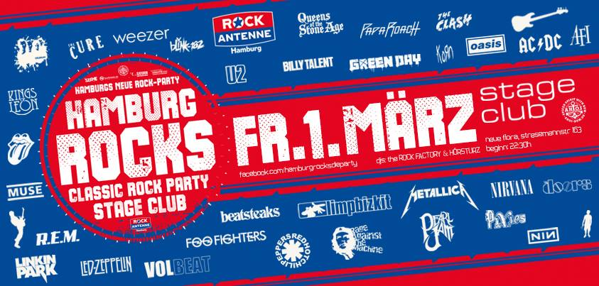 HAMBURG ROCKS - die nächste Rock-Party am 01.03.2019!