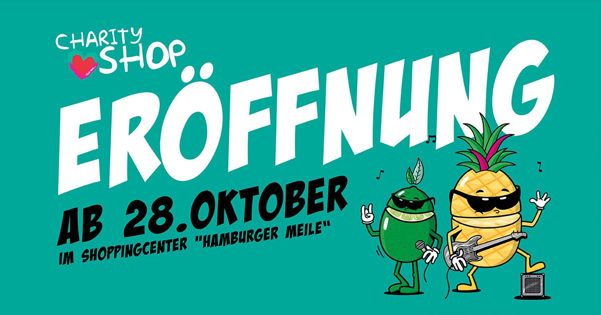 Ab 28.10.: Der CHARITY SHOP eröffnet in der Hamburger Meile