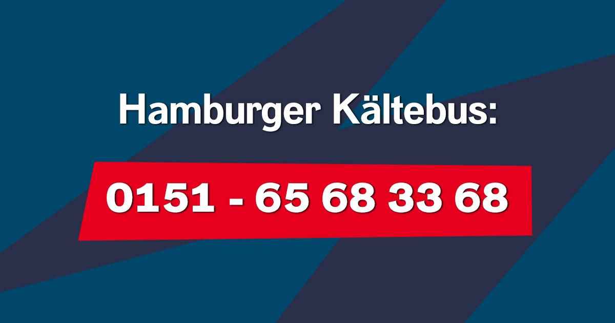 Anrufen & Leben retten: Der Hamburger Kältebus fährt wieder