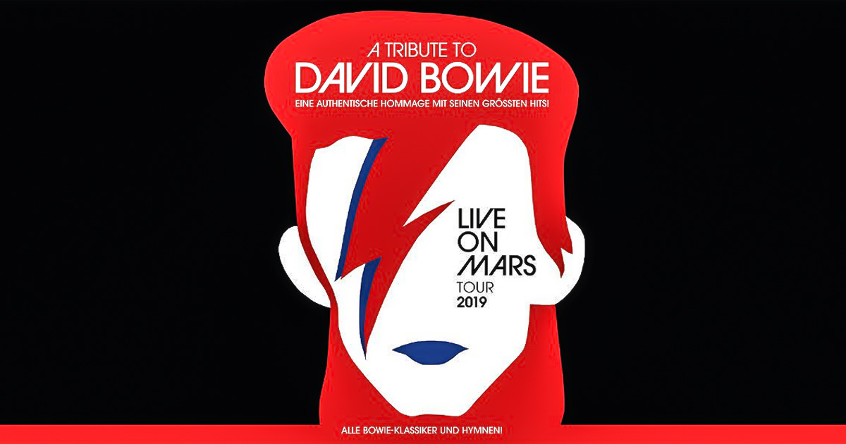 "Neu im ROCK ANTENNE Hamburg Konzertkalender: ""Live on Mars - A Tribute to David Bowie""!"