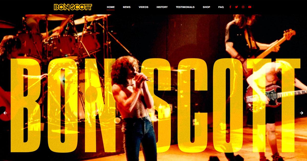 AC/DC: So feiert eine neue Webseite das Vermächtnis von Bon Scott