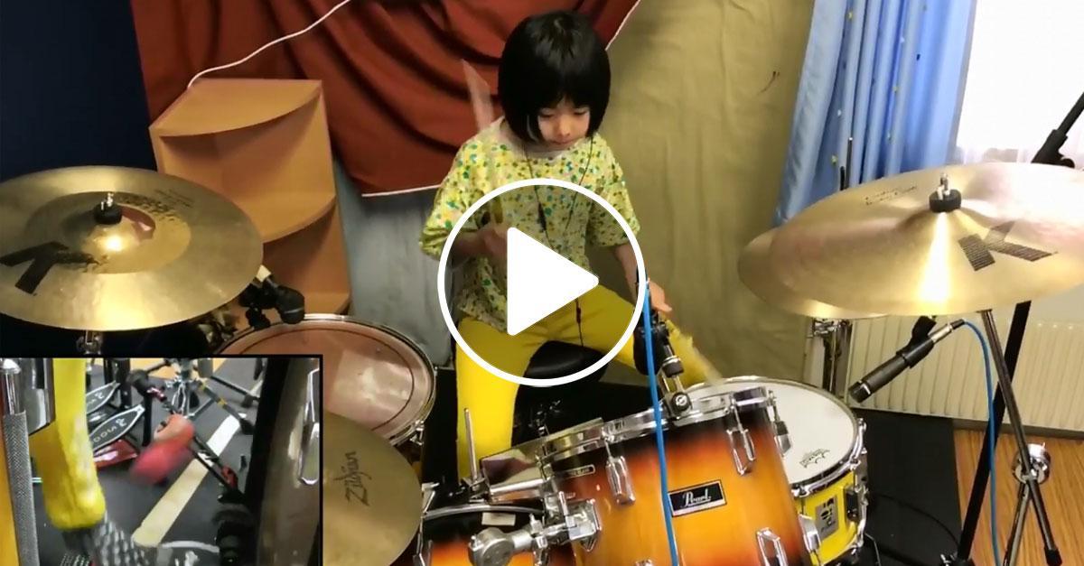 Unglaublich: Achtjährige trommelt wie John Bonham