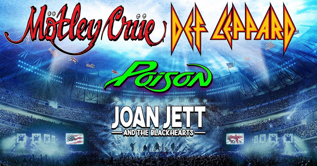 Mötley Crüe: Stadiontour mit Def Leppard, Poison und Joan Jett
