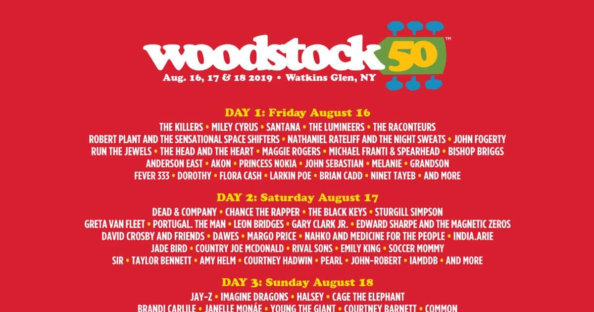 Woodstock 50: Line-Up des Jubiläumsfestivals ist komplett