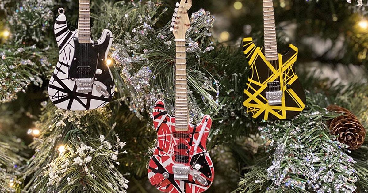 Van Halen: E-Gitarren für den Weihnachtsbaum