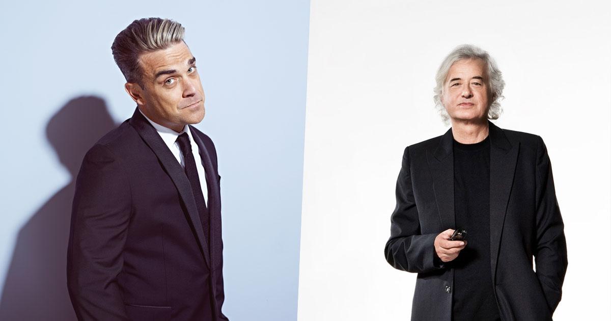 Jimmy Page vs. Robbie Williams: Posiert der Sänger als Robert Plant?