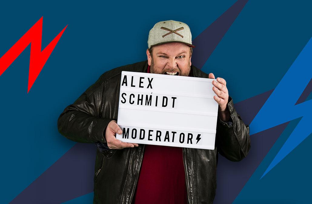 Moderator Alex Schmidt
