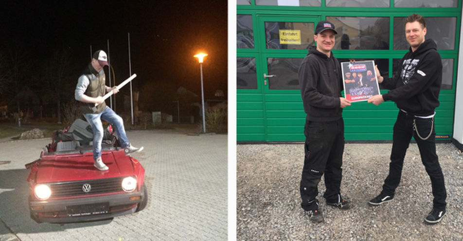 Florian aus Hemau geht mit AC/DC auf Europatour