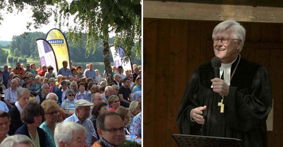 Mit Badehose und Gesangsbuch: Freiluftgottesdienst am fränkischen Rothsee mit ANTENNE BAYERN