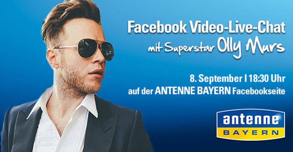 Superstar Olly Murs übernimmt ANTENNE BAYERN Facebook-Kanal