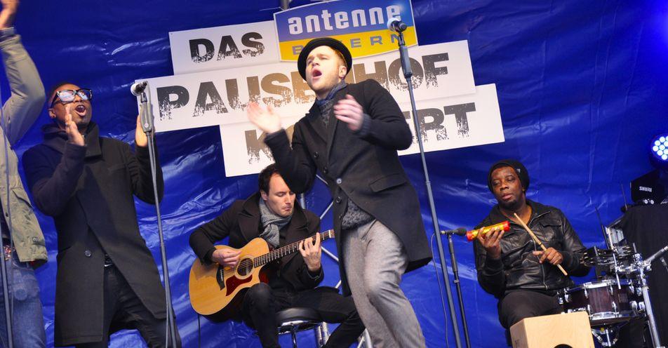 Nikolaus-Überraschung: Olly Murs rockt das ANTENNE BAYERN-Pausenhof-Konzert in Ingolstadt