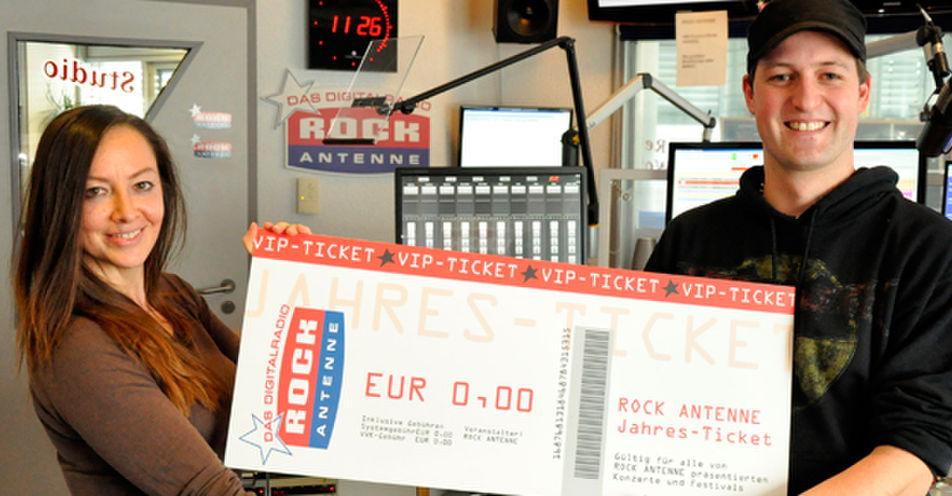 Christoph aus Tussenhausen gewinnt das ROCK ANTENNE VIP-Ticket 2015