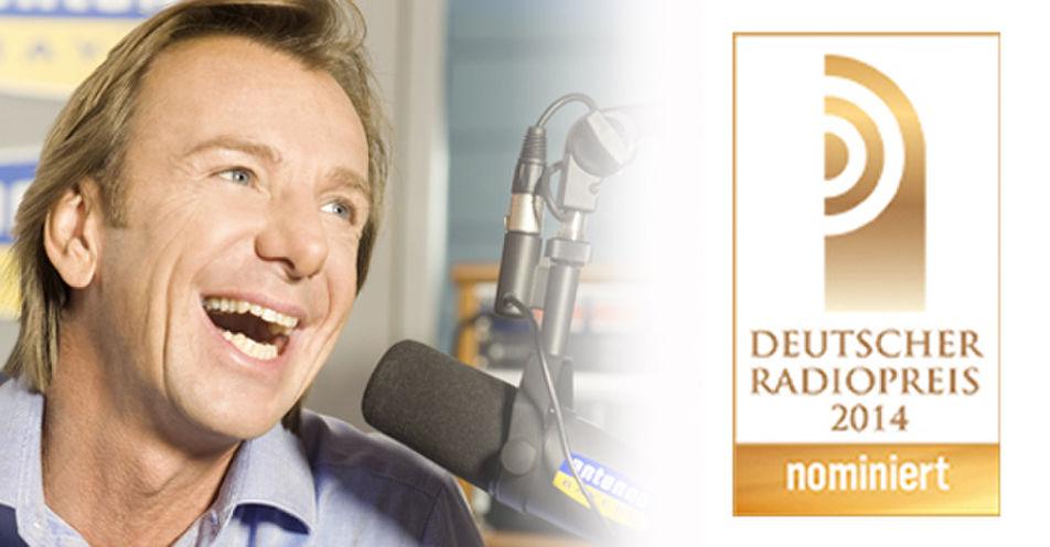 ANTENNE BAYERN-Morgenmoderator Wolfgang Leikermoser nominiert für Deutschen Radiopreis 2014!