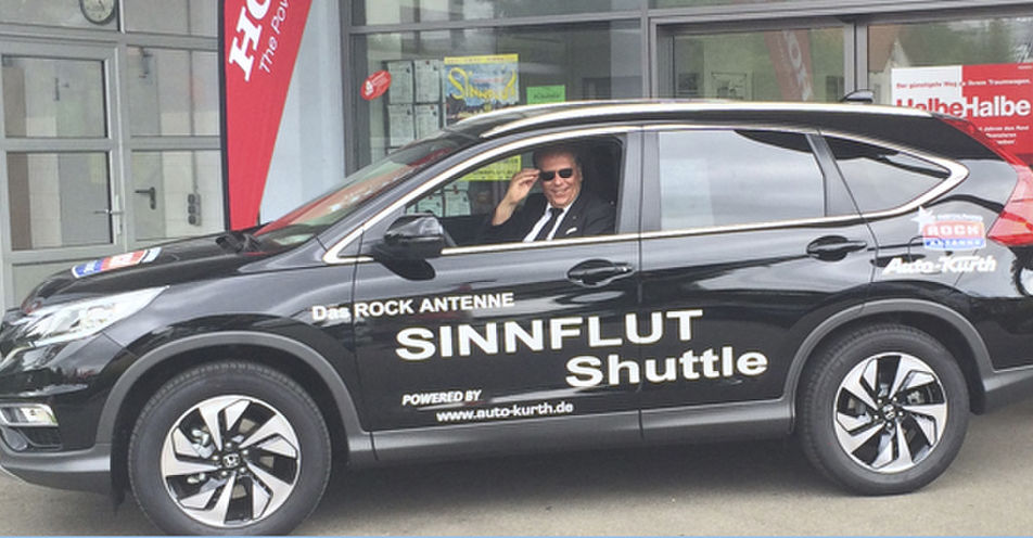 Das ROCK ANTENNE Sinnflut Shuttle startet in Erding