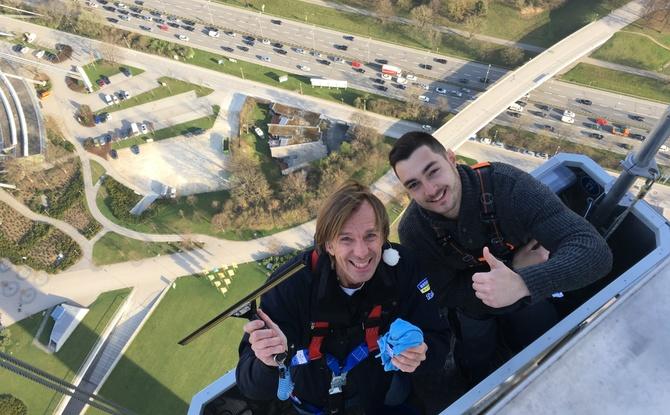 Hoch auf dem Münchener Olympiaturm
