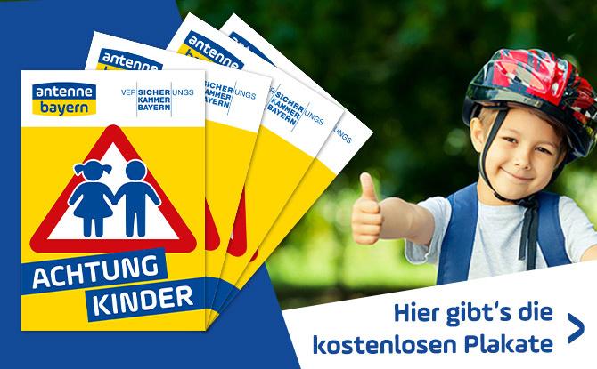 ACHTUNG KINDER-Plakate: Jetzt kostenlos abholen