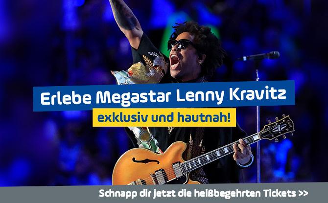 Der Kravitz-Konzert-Kracher: Erlebt Megastar Lenny Kravitz exklusiv und hautnah