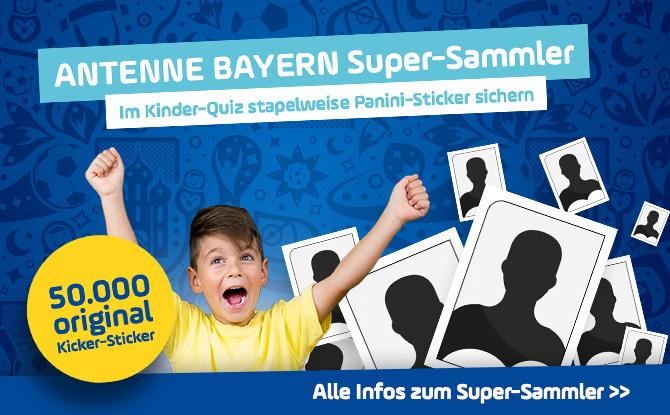 ANTENNE BAYERN Super-Sammler: Sichert euch stapelweise Panini-Sticker