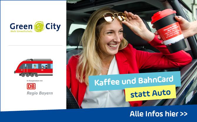 Kaffee trinken statt im Stau stehen: Schützt die Umwelt und eure Nerven mit der DB Regio Bayern