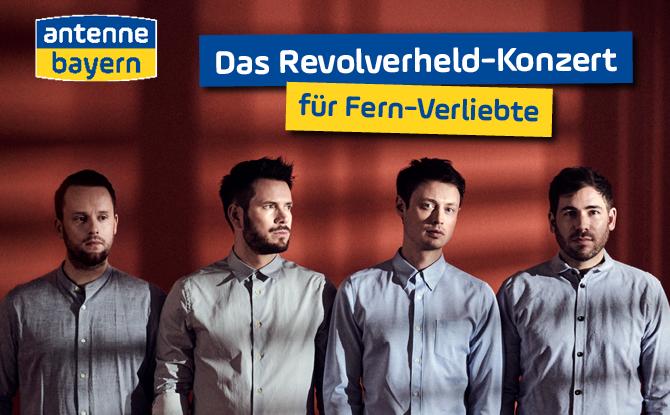 Revolverheld-Konzert für Fern-Verliebte: ANTENNE BAYERN sucht Bayerns größte Liebe auf Distanz