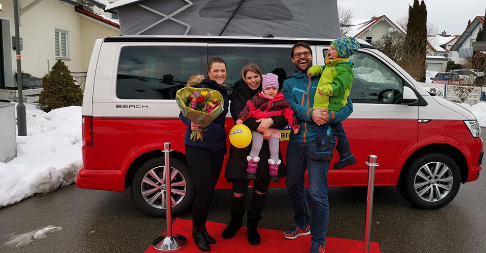 Volle Fahrt voraus: ANTENNE BAYERN-Bulli für Juliane aus Hergensweiler