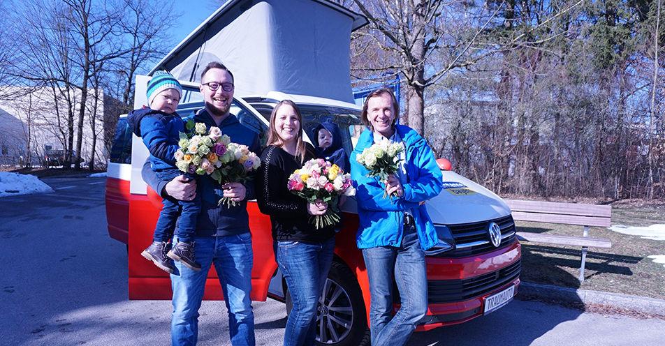Zweifaches Bulli-Glück im Landkreis: Katharina jubelt am Valentinstag