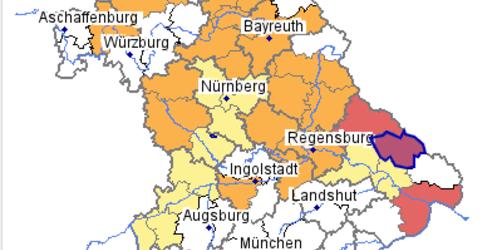 Hochwasser in Bayern: Hier die Lage bei euch checken