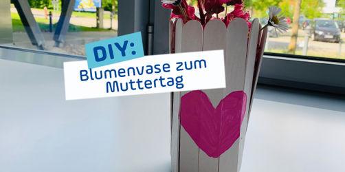 DIY zum Muttertag: Vase aus Eisstielen