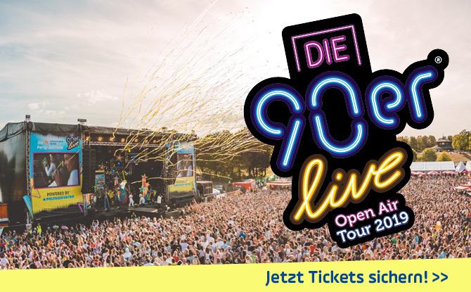 """""""Die 90er live"""" Party: Wir schenken euch Tickets für Kaltenberg"""
