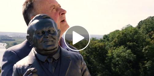 Fürther Oberbürgermeister fährt mit Ludwig Erhard zur Walhalla