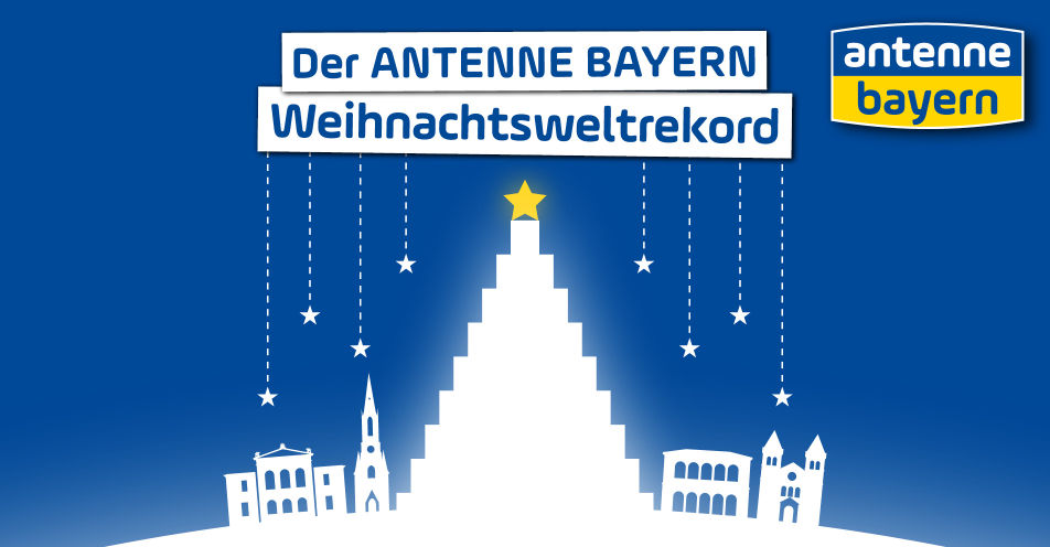 Bad Kissingen baut gemeinsam mit ANTENNE BAYERN den größten Bierkasten-Christbaum aller Zeiten