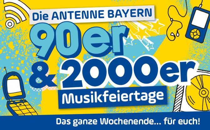 Zwei ANTENNE BAYERN Musikfeiertage am Stück - diesmal 90er & 2000er!