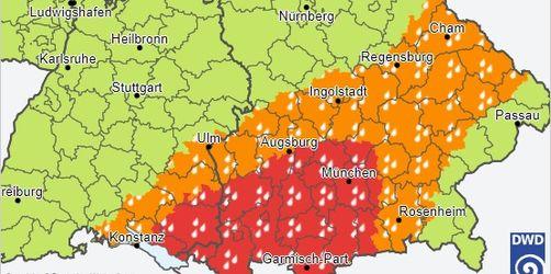 Warnung vor Dauerregen: Hier drohen Überschwemmungen