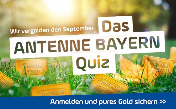 Das ANTENNE BAYERN Quiz: Anmelden und pures Gold sichern!