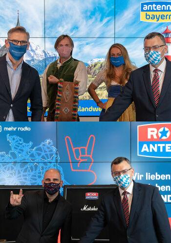 Unternehmensgruppe feiert bundesweiten DAB+-Sendestart von ANTENNE BAYERN und ROCK ANTENNE