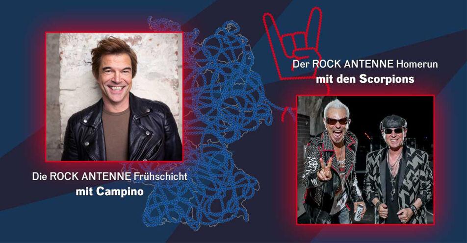 Super-Sendestart-Montag: Campino und die Scorpions zu Gast bei ROCK ANTENNE