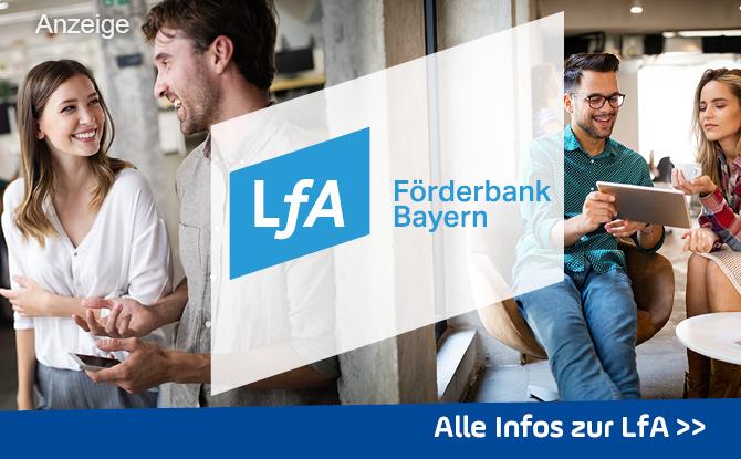 Beratung, Finanzierung, Erfolg - mit der LfA Förderbank Bayern