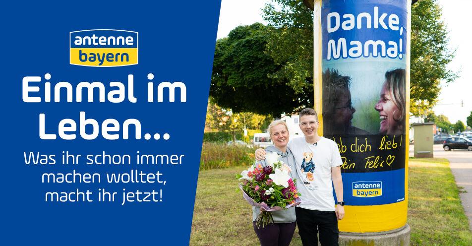 Lebenstraum von 17-Jährigem wird wahr: Mit ANTENNE BAYERN sagt er seiner Mama ganz besonders DANKE!