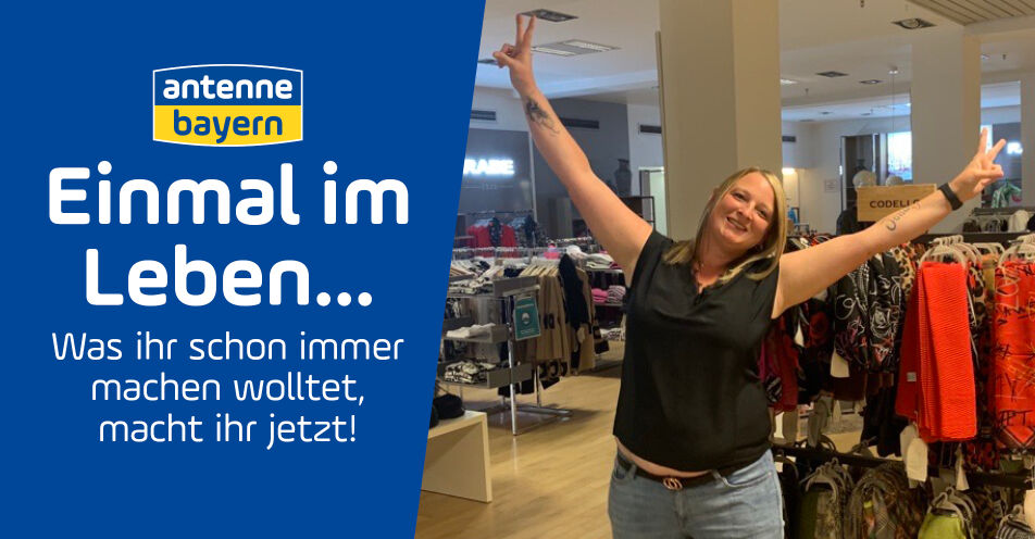 Eine Nacht allein im Kaufhaus: ANTENNE BAYERN erfüllt Shopping-Traum