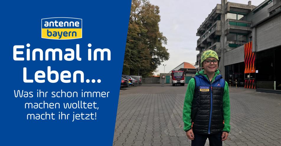 Einmal im Leben Feuerwehrmann sein: ANTENNE BAYERN erfüllt den Traum des 7-jährigen Leo aus Oberau