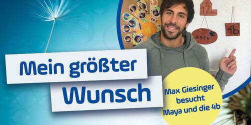 Mein größter Wunsch: Max Giesinger bei Maya und der 4b