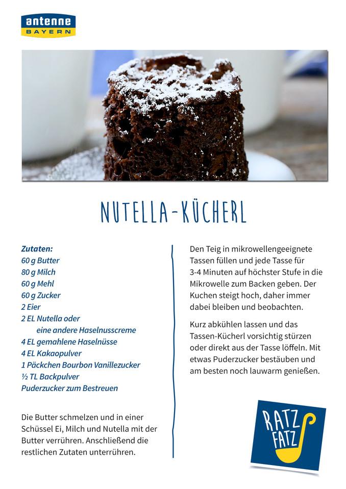 Nutella Kucherl Antenne Bayern